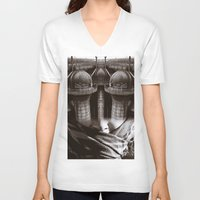 industrial V-neck T-shirts featuring Industrial by Cash Mattock