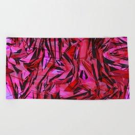red flow Beach Towel