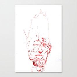 Facefractal Canvas Print