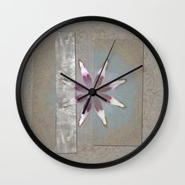 Turk In The Altogether Flowers  ID:16165-065856-95341 Wall Clock