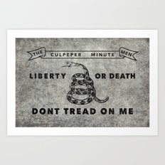 The Culpeper Minutemen flag, Vintage Grunge Art Print