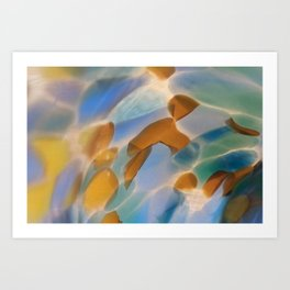 Colored Glass Art Print