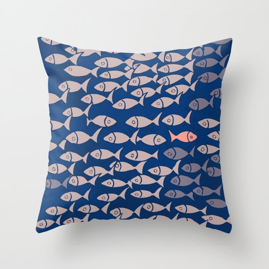something fishy II Throw Pillow