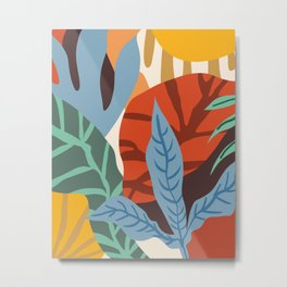 Wherever life plants you, bloom with grace #illustration Metal Print
