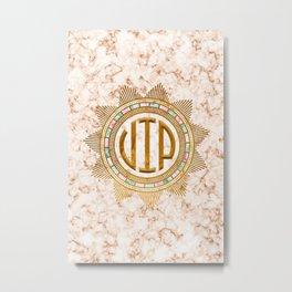 VIP – Gold multicolor Metal Print