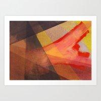 Orange flow Art Print