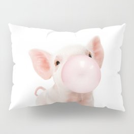 Bubble Gum Baby Pig Pillow Sham