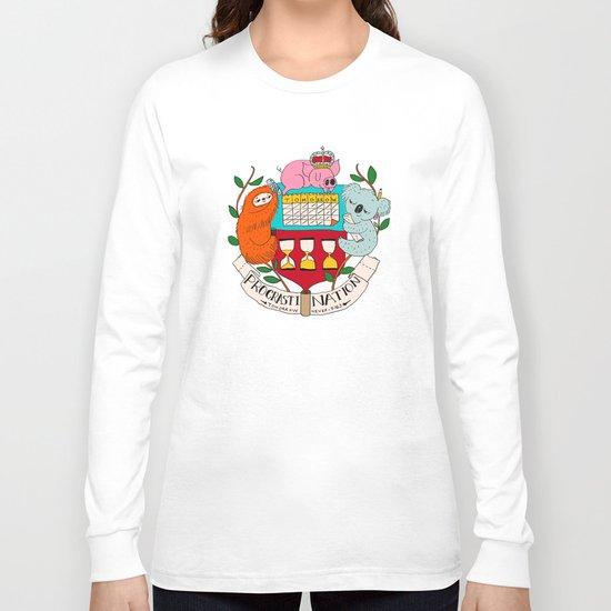 procrasti nation Long Sleeve T-shirt