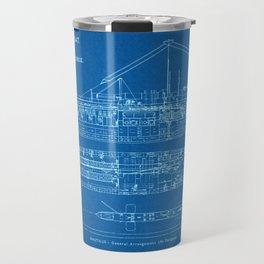 H.M.S. Nautilus Submarine - Blueprint Travel Mug