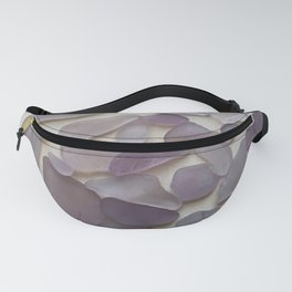 Genuine Purple Sea Glass Collection Fanny Pack