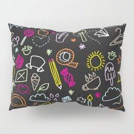 chalkboard doodles Pillow Sham