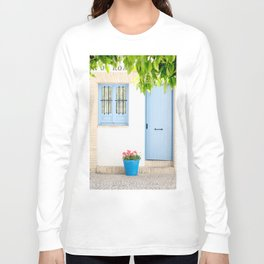 Blue and light Long Sleeve T-shirt