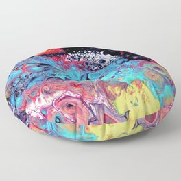 Color Painting detail Floor Pillow