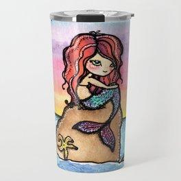 Mermaid Sunset Travel Mug