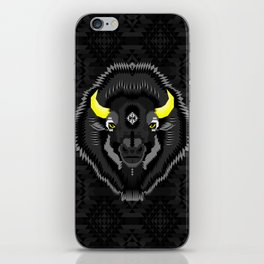 Geometric Bison iPhone Skin