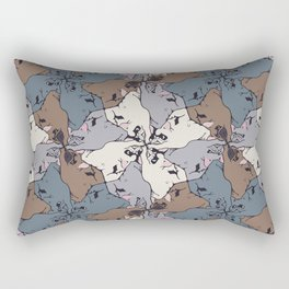 Frenchie Yoga Tessellations Rectangular Pillow