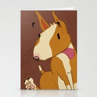 bull terrier Stationery Cards featuring Bull Terrier by Kristen Rimmel