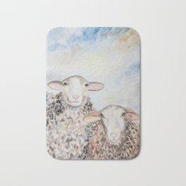 Couple of Sheep Bath Mat
