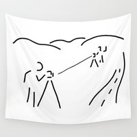 engineer Wall Tapestries featuring measurement engineer cartographer geoinformation by Lineamentum
