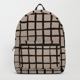 Strokes Grid - Black on Nude Backpack