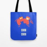 chibi Tote Bags featuring chibi chibi by Michi Donaho