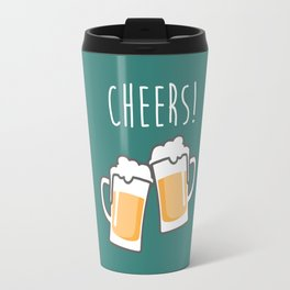 Cheers for peers with beer - Enjoy beer day with your friends Travel Mug