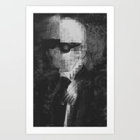 karl lagerfeld Art Prints featuring Karl Lagerfeld Star Futurism Limited by Futurism_