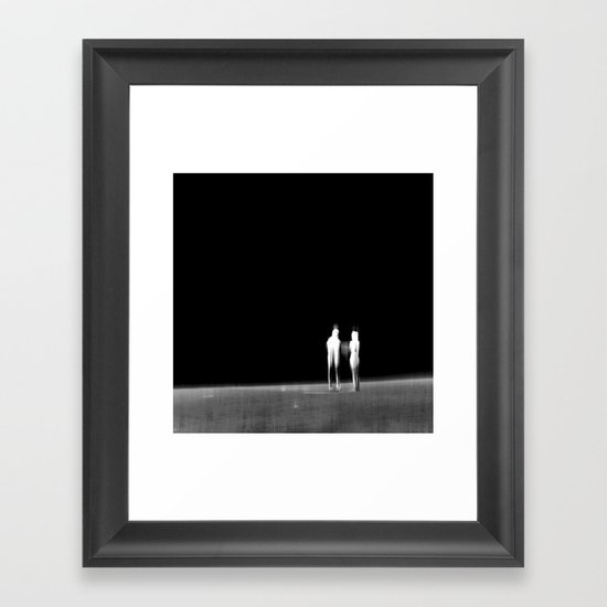 Look into the Unknown - VACANCY zine  Framed Art Print