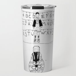 Eleven and the upside down Travel Mug