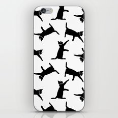 Cats on White iPhone Skin