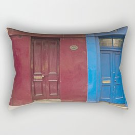 Red or blue ?  Greyfriars Edinburgh Scotland city Rectangular Pillow