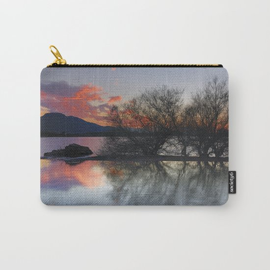 Trees in the water at the red sunset Carry-All Pouch