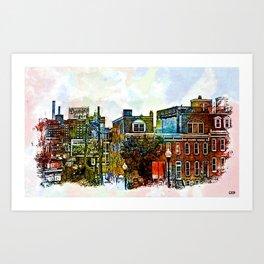 Domino Sugars Neighborhood, Locust Point, Baltimore, Maryland  Art Print