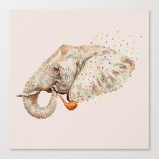 Elephant Sailor Canvas Print