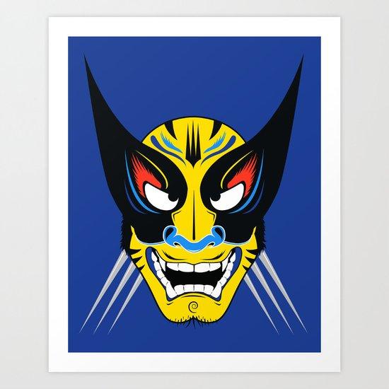 Kabuki Wolverine Art Print