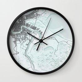 New Orleans LA USA White City Map Wall Clock