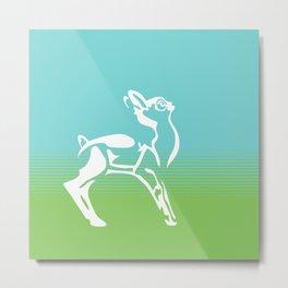 Spring is in the air deer Metal Print