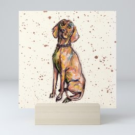 Hungarian Vizsla Dog Mini Art Print
