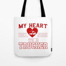 My heart belongs to a Trucker Tote Bag