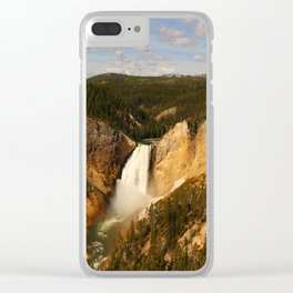 Majestic Yellowstone Upper Falls Clear iPhone Case
