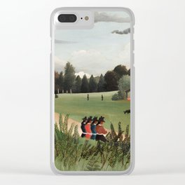 Landscape and Four Young Girls, Henri Rousseau, 1895 Clear iPhone Case