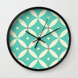 Retro Geometric Pattern Wall Clock