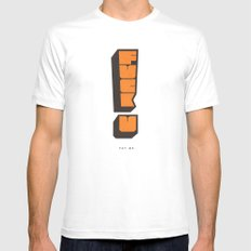FUPM White Mens Fitted Tee SMALL