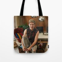 niall horan Tote Bags featuring Niall Horan by behindthenoise