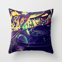 At Nightclub Throw Pillow