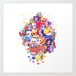 UNDERTALE MUCH CHARACTER Art Print