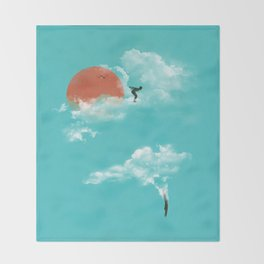 Skydivers (recolor) Throw Blanket