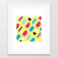 popsicle Framed Art Prints featuring Popsicle by Sher Mavro ART