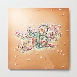 VD: monogram in flower Metal Print