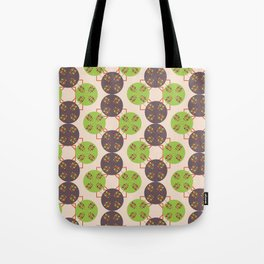 70s Inspired Pattern Tote Bag